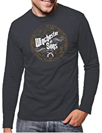 Touchlines Herren Langarm T-Shirt Winchester and Sons