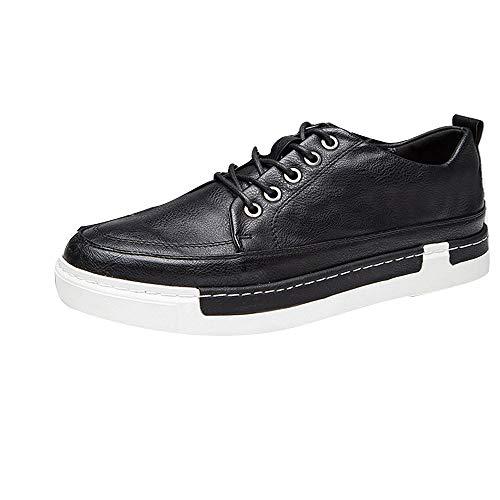 S&H-NEEDRA Chaussures Hommes, Chaussures à Lacets pour Hommes Baskets en Cuir Chaussures Décontractées Chaussures De Ville