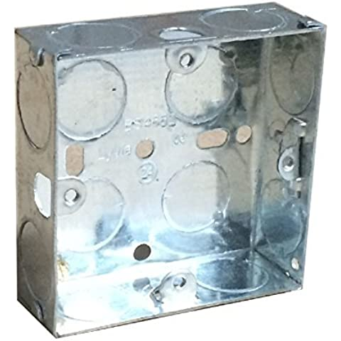 Single Metal Back Box 25mm Flush Wall