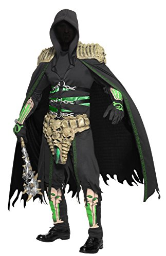 KULTFAKTOR GmbH Sensenmann Seelen Räuber Halloween-Kostüm schwarz-grün M