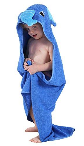 l mit Kapuze Baumwolle Kapuzenhandtuch Badeponcho Cosplay Kostüme für 0-6 Jahre Blauer Elefant (Babys Tierische Kostüme)