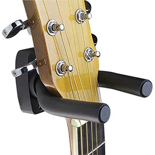 Vektenxi 1 Stücke Gitarre Wand Haken Gitarre Display Halterung Bass Wandhalter Halter Anzug für Alle Gitarren, Bass, Violine, Ukulele und Geige (Schwarz)