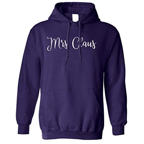 Weihnachten Kapuzenpullover Mrs Claus Slogan Purple Medium ()