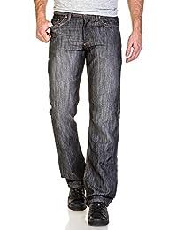BLZ jeans - Jean gris homme droit contrasté