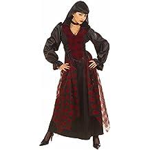 Victorian Vampiress Costume (M) (Dress Choker With Gem)