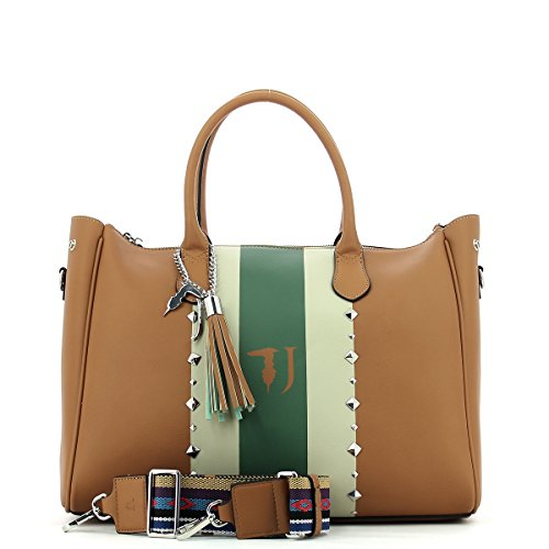 Trussardi Jeans Blondie, Borsa Tote Donna, 40x43x23 cm LEATHER