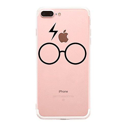Qissy®TPU Case für iPhone 7 Plus Silikon-Hülle Soft Shell Fall Anti Shock Silikon Anti-Staub-beständig Leichtes Ende mit Glänzende Einzigartiges Persönlichkeitsdesign (iPhone 7 Plus 5,5 Zoll, 3) 12