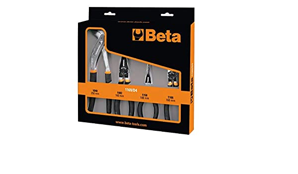 Set 4 pinze Beta 1169//D4 pinza universale becchi mezzotonda tronchese e pappagal