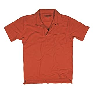Alexanders of London 100% Cotton Soft Polo Pique - Burnt Orange - Size XL