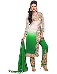 VIHA Women's Faux Georgette Dress Material