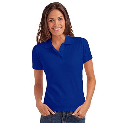 hanes-polo-pique-elegance-manches-courtes-couleur-unie-femme-bleu-cobalt-large