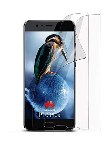 moex 2X Huawei P10 Plus | Schutzfolie Klar Bildschirm Schutz [Crystal-Clear] Screen Protector Display Handy-Folie Dünn Bildschirmschutz-Folie für Huawei P10 Plus Bildschirmfolie