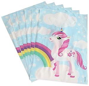 DYNASTRIB - Bolsas para caramelos (6 unidades, 23 x 15 cm), multicolor
