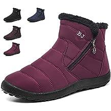 b8fd597210f Zapatos Invierno Botas de Nieve para Mujer Hombres Botines Moda Calentar  Forrado Botas Tacon Zapatillas Planas