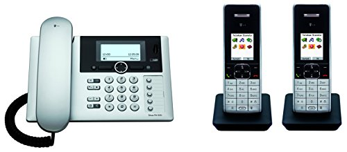 Telekom T-Home Sinus PA503i plus 2 , ISDN Telefon DUO SET inkl. 2 Mobilteilen und Anrufbeantworter