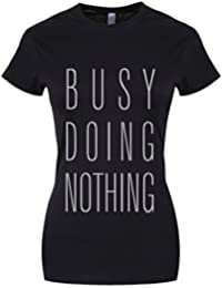 Grindstore Women's Busy Doing Nothing T-Shirt Black