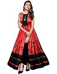 ea6ff1eeea4 Viren Enterprise Women s Readymade Satin Printed Gown