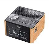 JiuErDP Home Musik Wecker, Audio-Lautsprecher drahtlose Bluetooth-Karte Mini-Handy übergewichtigen kleinen Wecker Subwoofer (Farbe : Local Gold)