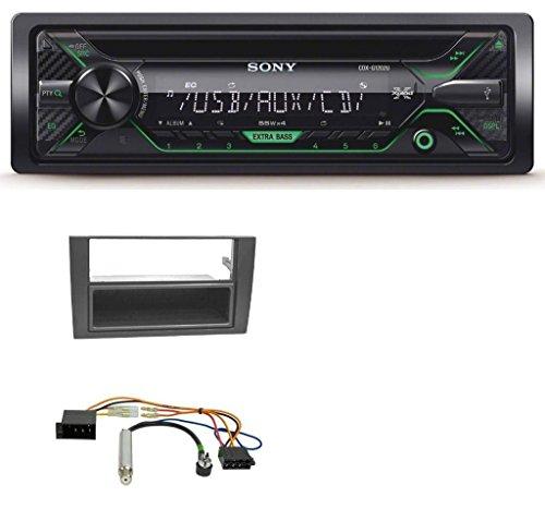 Sony CDX-G1202U 1DIN Aux USB CD MP3 Autoradio für Audi A4 B6 B7 2001-2008 Symphony ISO
