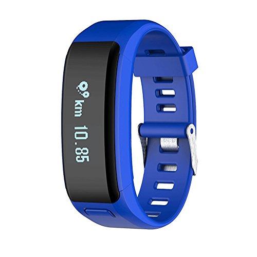 OOLIFENG Aktivitäts-Tracker Smart Band mit Schlafmonitor, Intelligentes Armband Schrittzähler Für Android und Ios,Blue (860 Gps)