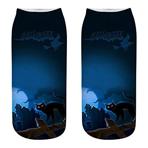 Mann Candy Kostüm - Halloween Fledermaus Socken Neuheit Hexe Fledermaus Katze Kürbisse Scary Horror Socken Party Requisiten Großes Geschenk Kostüm für Männer Frauen Kinder