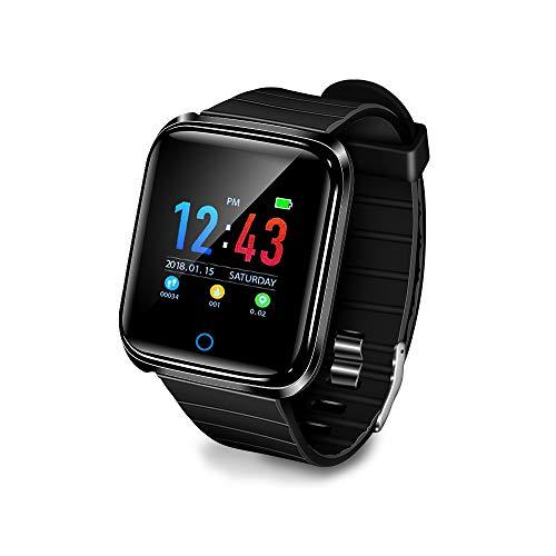 ChiYang wasserdichte Uhr D28 Smart Watch Blutdruck Herzfrequenzmesser Kalorien Schrittzähler Informationen Erinnerung (Schwarz)