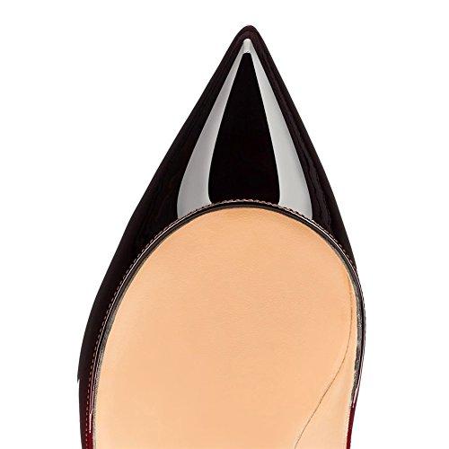 EKS - Scarpe con Tacco Donna Rosso (Rot-schwarz-10cm)