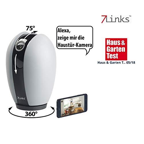 7links Überwachungscamera: WiFi-HD-IP-Überwachungskamera, App, Nachtsicht, Pa