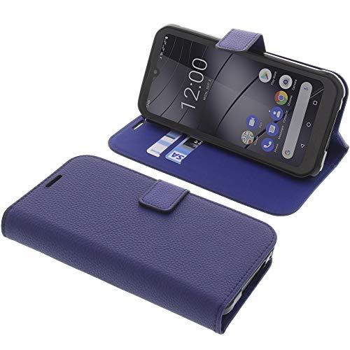 foto-kontor Housse pour Gigaset GX290 Style Livre Bleu Coque de Protection Portefeuille