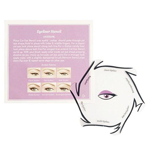 Eyeliner Schablone für den perfekten Lidstrich by BLISSANY, Cat Eyeliner, Lidstrich Schablone, verschiedene Styles, Double Wing, Extravagant Cat, Arabic Eyeliner