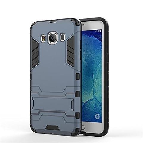 KaTelin Samsung Galaxy J5(2016) Case - 3 Couche Holster Combo Antichoc [Protection Goutte] Soutien Hard Cover Case pour Samsung Galaxy J5(2016) - Noir