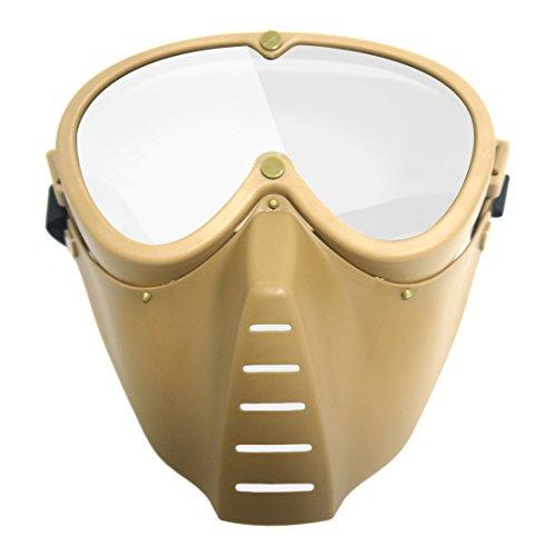 Softair Maske, Foxom Maske Softair Schutzmaske Gesichtsmaske Paintball Sicherheitsmaske Maske für Nerf (Schlamm)