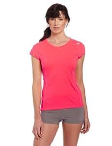 New Balance Damen Laufshirt Icefil Shorts Sleeve, dvp divapink, L, 283590-50
