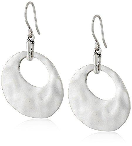 kenneth-cole-new-york-silver-tone-organic-shaped-drop-earrings