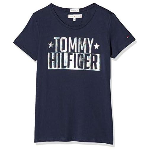 Tommy-Hilfiger-Girls-Foil-Logo-Tee-SS-T-Shirt