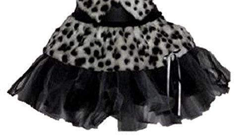 Kostüme Disney Cruella Deville (Sexy Dalmatiner Fell Tutu Cruella Teufel Deville Dalmatiner Fancy Kleid Sets Gr. Pleated Tutu Sätze,Normen 34-40, schwarz /)