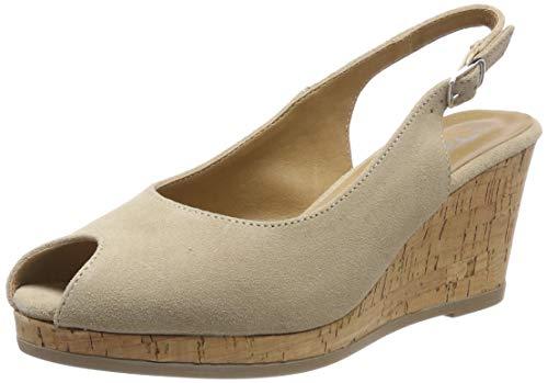 Tamaris Damen 1-1-29303-22 Peeptoe Pumps, Beige (Nature/Cork 320), 40 EU Beige Damen Schuhe