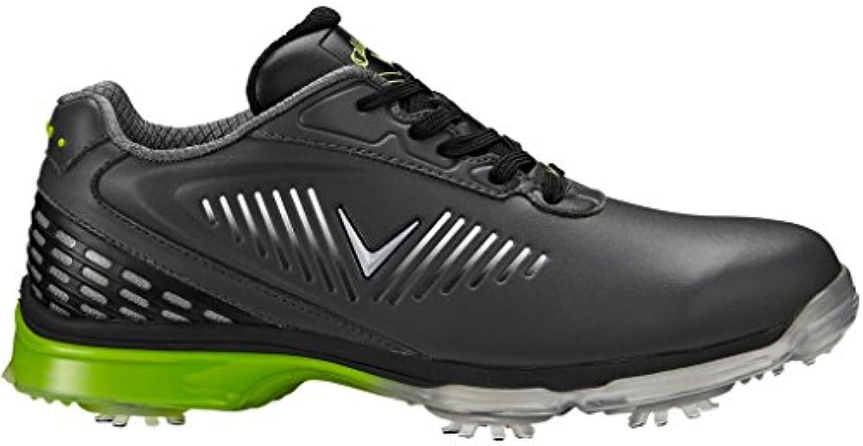 Callaway Xfer Nitro Zapatillas de Golf, Hombre, Gris (Grey/Black/Green), 45 EU
