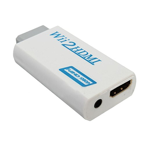 SODIAL(R) Wii zu HDMI Wii2HDMI Full HD FHD 1080P Konverter Adapter 3,5 mm Audio Ausgang Buchse