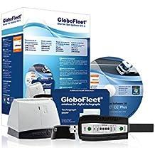 GloboFleet Starter Set Optimal DK II für kleinere und mittlere Unternehmen zum auslesen, auswerten und archivieren der Fahrerkarte, Chipkartenleser und 8GB Downloadkey II
