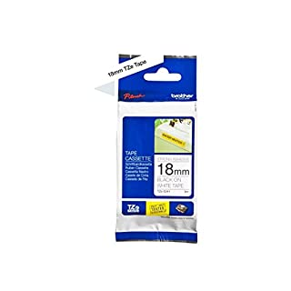 Brother TZe-S241 Labelling Tape Cassette, Black on White, 18 mm (W) x 8 m (L), Strong Adhesive, Brother Genuine Supplies