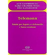 Sonata per fagotto o violoncello e basso continu - Book