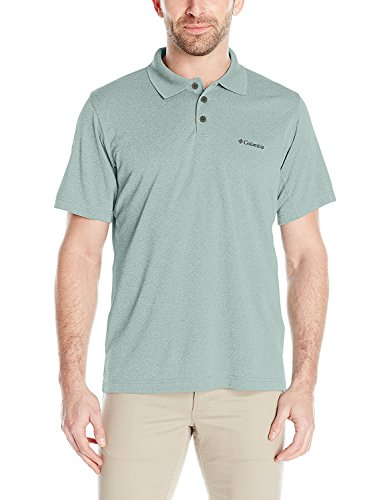 Columbia Men's New Utilizer Polo Shirt, Dusty Green Heather, Small -