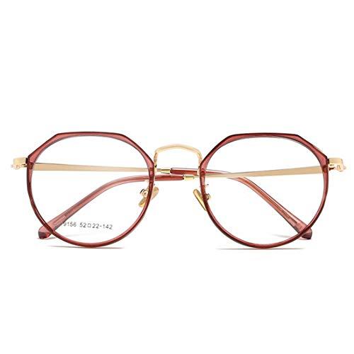 Jakiload Brillengestell Anti-Blue Light ultraleichte Brillengestell für Damen Herren Anti Blue Light Brillen (Color : Purple)