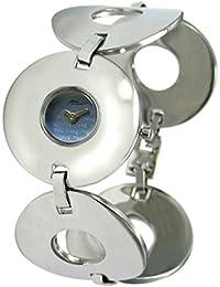 Moog Paris Bohême Reloj para Mujer con Esfera Azul, Correa Plateada de Acero Inoxidable - M46144-001