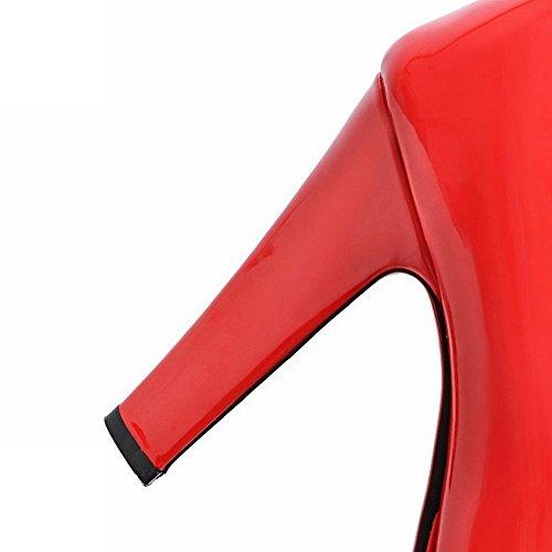 MissSaSa Femmes Escrpins Talons Hauts Chaussures Plateformes Rouge