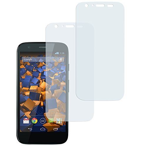mumbi Schutzfolie kompatibel mit Motorola Moto G 1. Generation Folie klar, Bildschirmschutzfolie (2x)