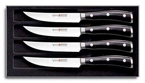 Wüsthof 9716 SteakMessersatz, Stahl, schwarz, 4 Einheiten