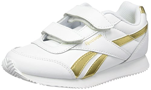 Reebok Unisex-Kinder Royal Classic Jogger 2 2V Laufschuhe, Weiß (White/Gold Met), 33 EU (Weißer Junge Schaufel)