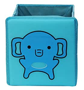 Uberlyfe Foldable Kids Storage Box Blue Animal Elephant - Small